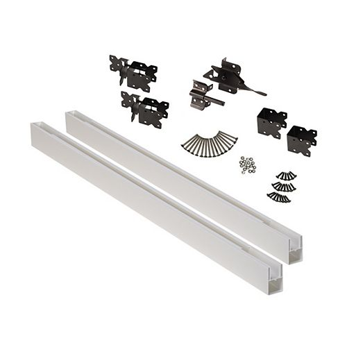 Pro Series White Vinyl Fence Gate Kit