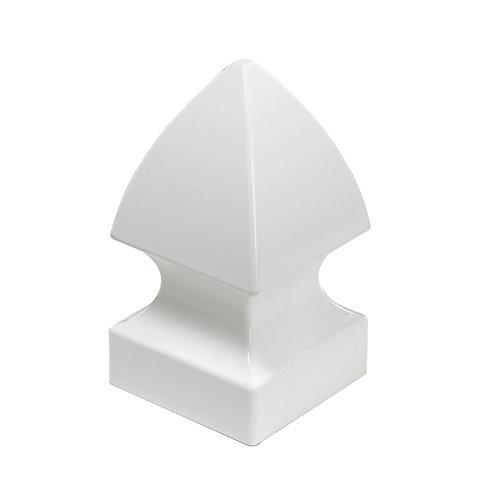 Capuchon de poteau Gothic 13 x 13 cm (5 x 5 po) de vinyle blanc