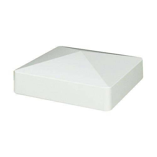 Capuchon de poteau Pyramide 10 x 10 cm (4 x 4 po) de composite blanc