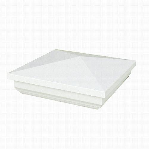 Capuchon de poteau 13 x 13 cm (5 x 5 po) New England de vinyle blanc