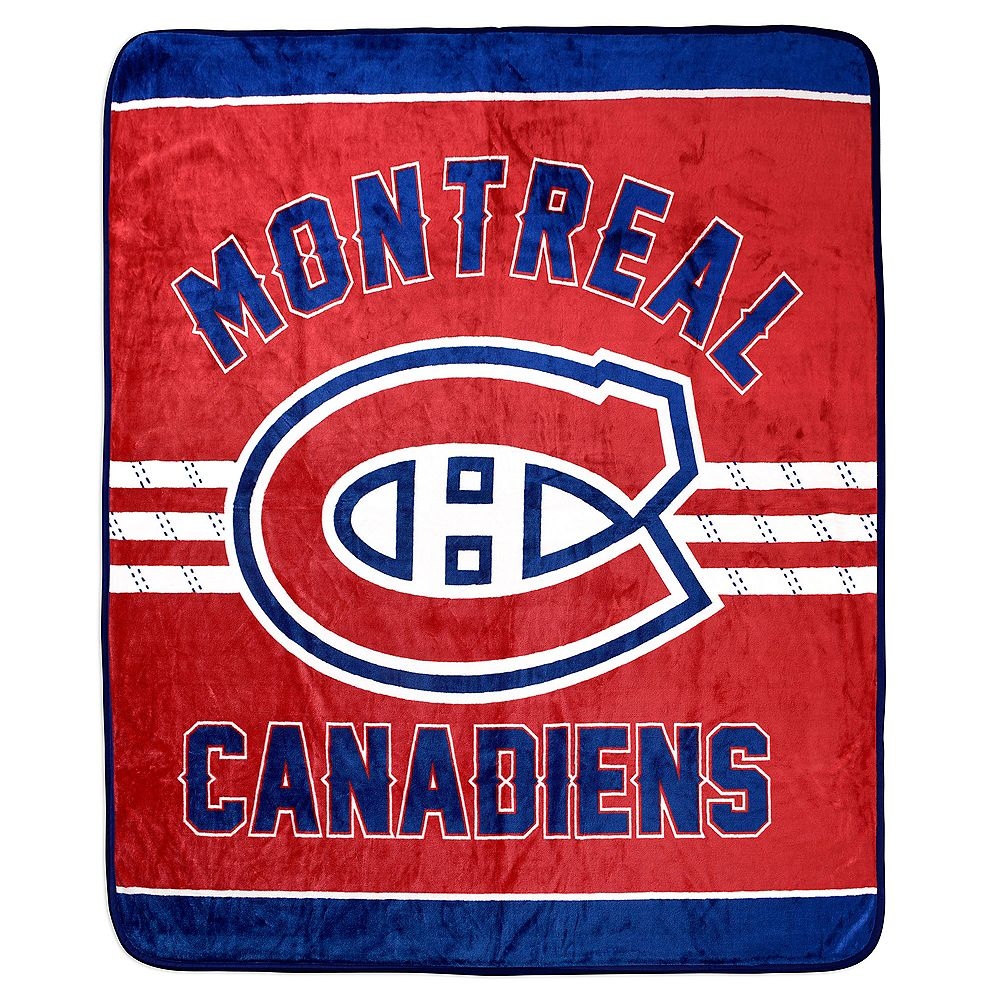 Nhl Montreal Canadiens Luxury Velour Blanket The Home Depot Canada