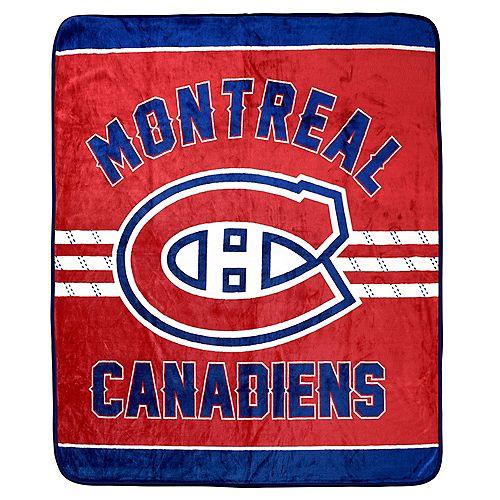 Couverture velours de luxe LNH -Canadiens de Montréal