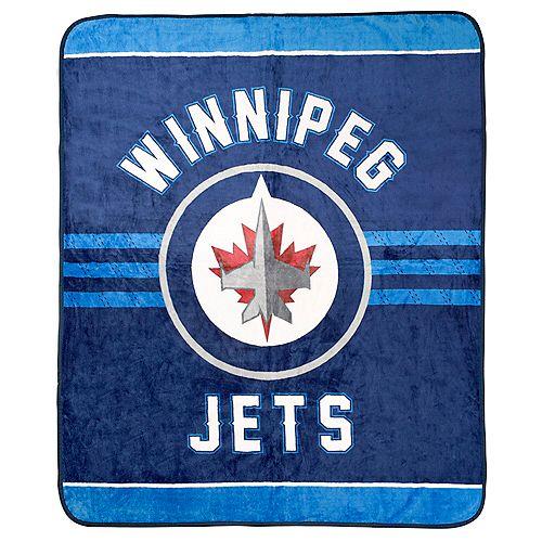 Couverture velours de luxe LNH -  Jets de Winnipeg
