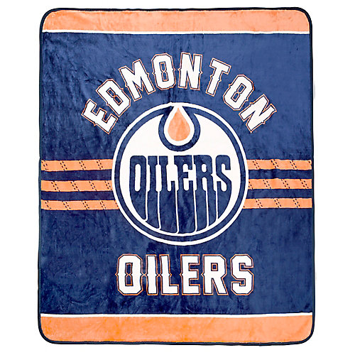 Edmonton Oilers Luxury Velour Blanket
