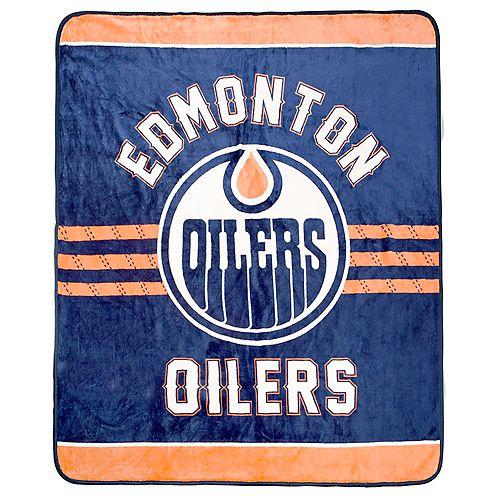 Couverture velours de luxe LNH - Oilers d'Edmonton