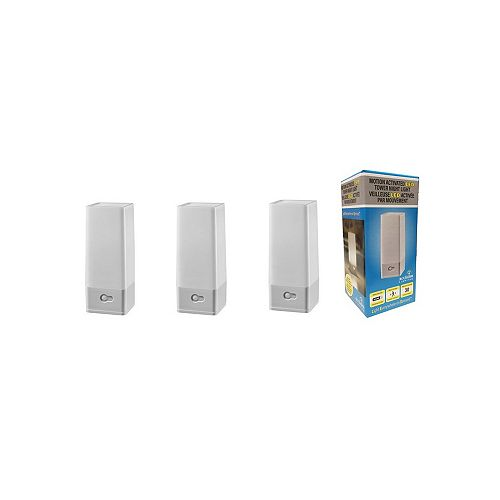 Acclaim LED Battery Operated portable Tower Night Light with motion sensor in dove gray finish. (3-Pack)