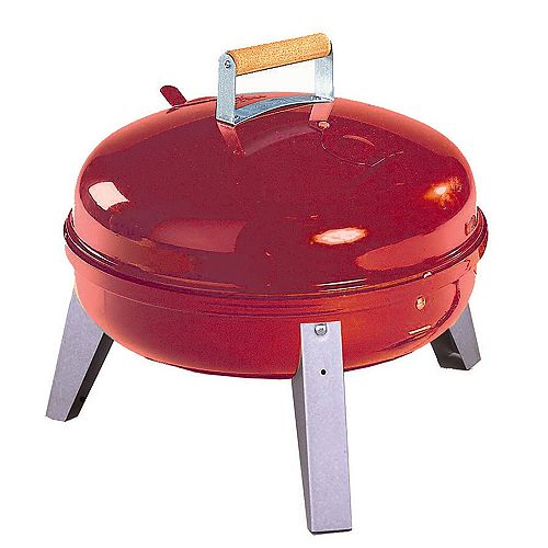 Americana Lock 'N Go Portable Charcoal BBQ in Red