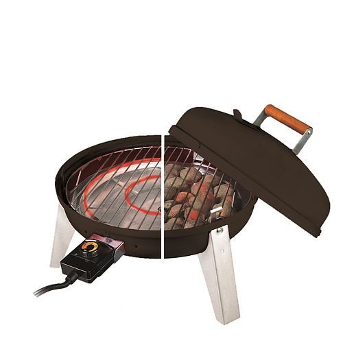 Americana Wherever Portable Charcoal and Electric BBQ in Black