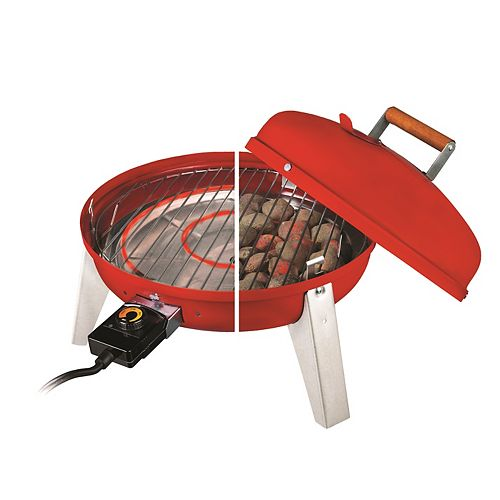 Wherever Portable Charcoal and Electric BBQ in Red