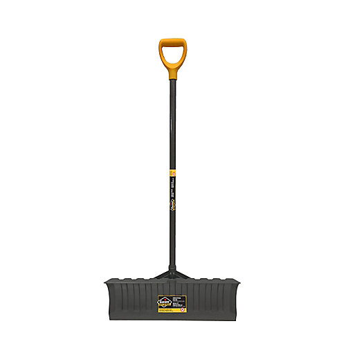 21-inch Large Polypro Blade Snow Pusher, Resists to Wear for Intensive Use
