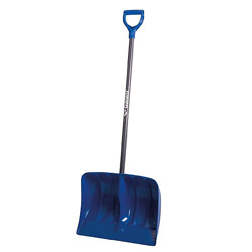 19-inch High Capacity Poly Blade Snow Shovel with Non-Slip Steel Handle