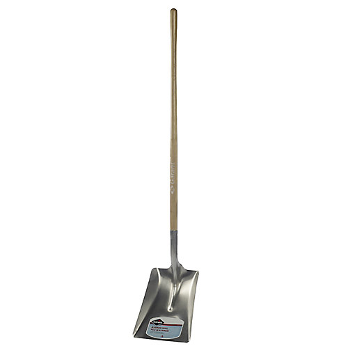 11-inch Lightweight Aluminum Blade All Purpose Snow Shovel with Long Hardwood Handle