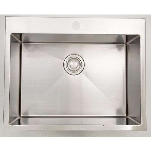 27-inch W Single Bowl Drop In Kitchen Sink For a Single Hole Drilling
