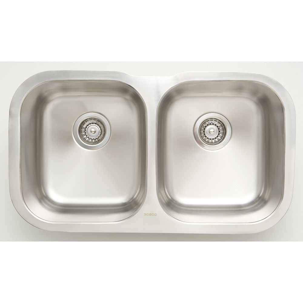 20.20 inch W Double Bowl Undermount Kitchen Sink For a Wall Mount Drilling  with Gauge 20