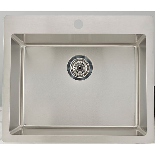 27.75-inch W Single Bowl Drop In Kitchen Sink For a Single Hole Drilling