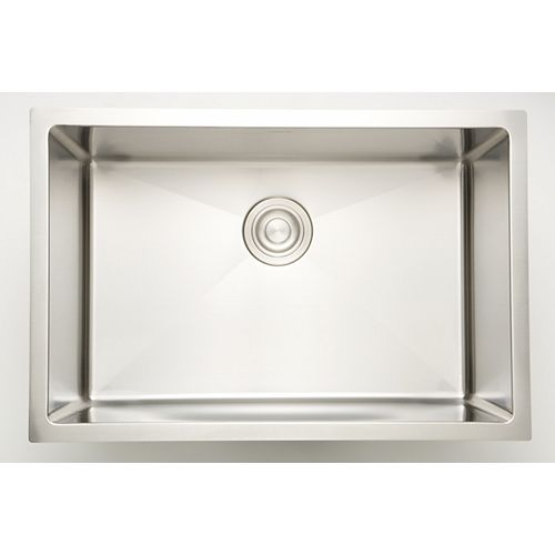 American Imaginations 25-inch W x 20-inch D Undermount Laundry Sink For a Wall Mount Faucet Drilling