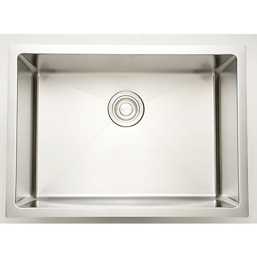 27-inch W x 20-inch D Undermount Laundry Sink For a Deck Mount Faucet Drilling
