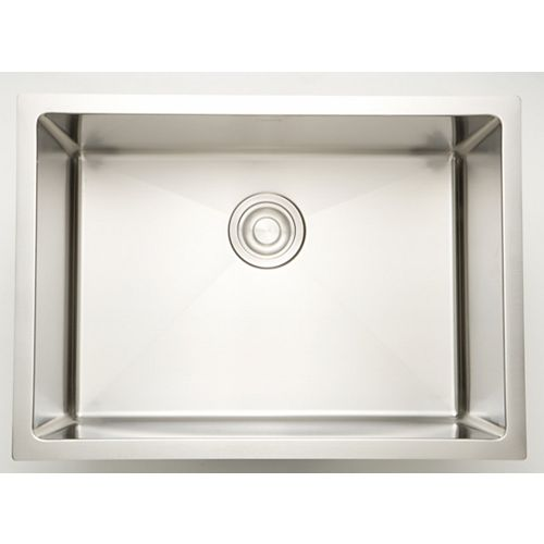 American Imaginations 27-inch W x 20-inch D Undermount Laundry Sink For a Deck Mount Faucet Drilling