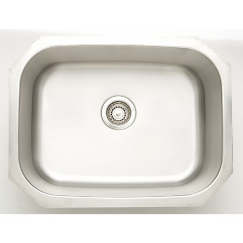 24.75-inch W x 18.75-inch D Undermount Laundry Sink For a Deck Mount Faucet Drilling