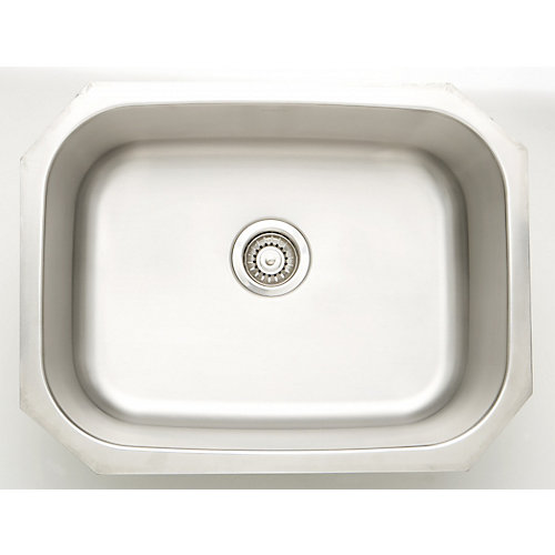 24.75-inch W x 18.75-inch D Undermount Laundry Sink For a Wall Mount Faucet Drilling