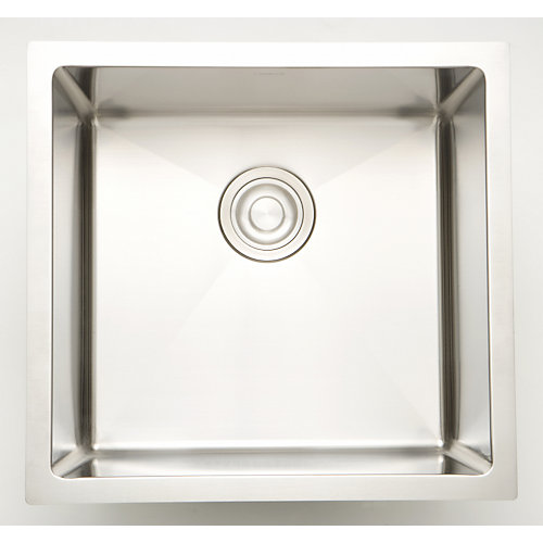 20-inch W x 20-inch D Undermount Laundry Sink For a Deck Mount Faucet Drilling