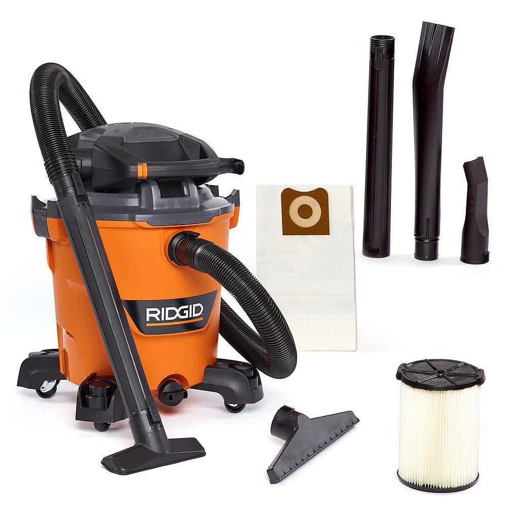 RIDGID NXT 45 L (12 Gal.) 6.0 Peak HP Wet Dry Vacuum with Detachable Blower