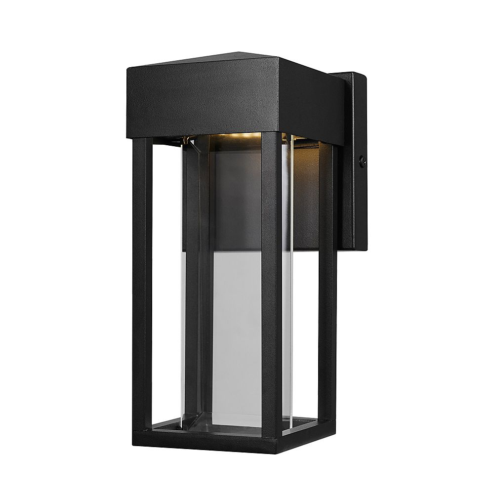 Globe Electric Bowie Integrated LED Matte Black Outdoor Indoor Wall Sconce