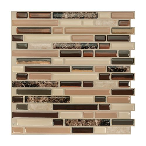 Bellagio Multi 10.06-inch W x 10-inch H Peel and Stick Decorative Wall Tile (4-Pack)