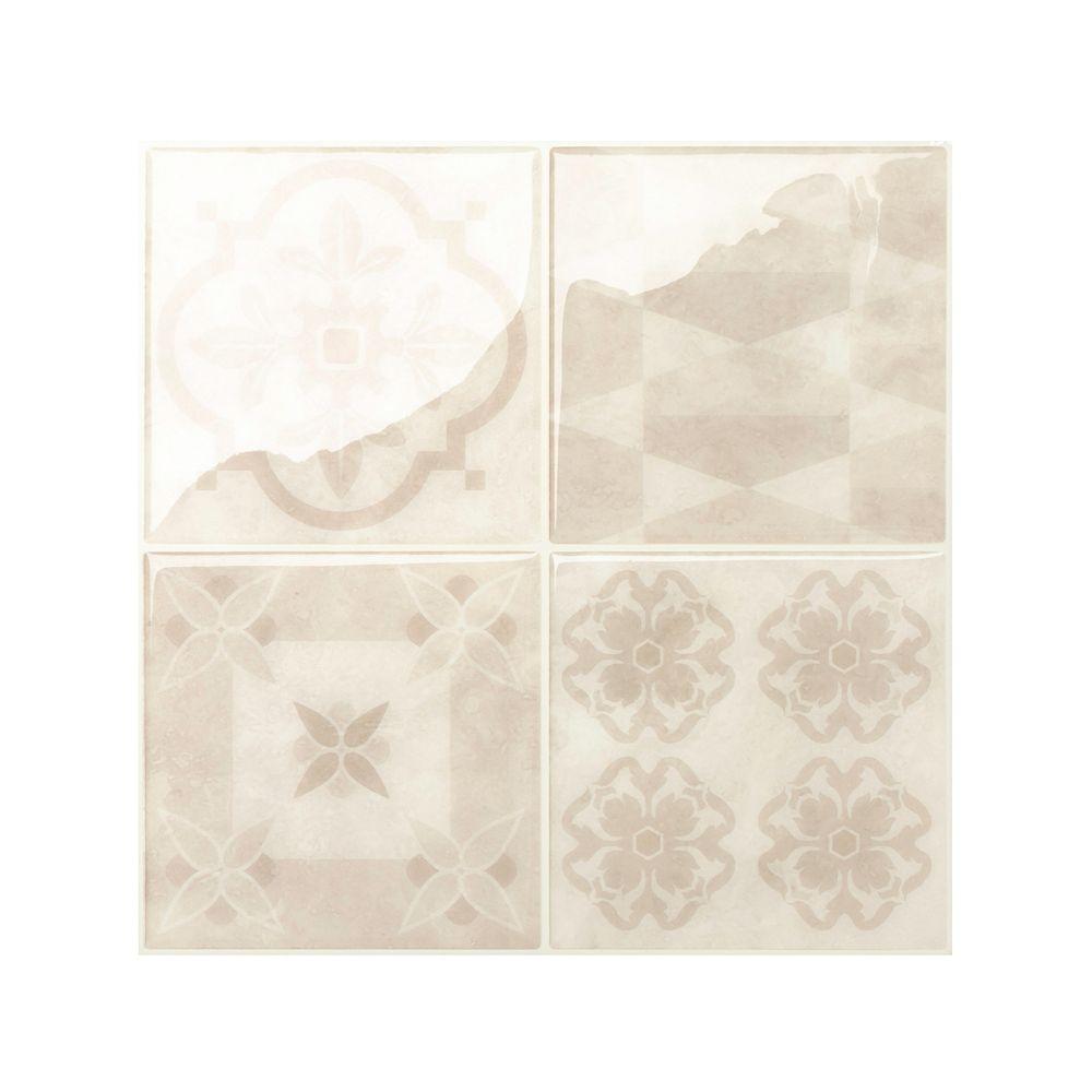smart tiles vintage venezia 9inch x 9inch peel and stick