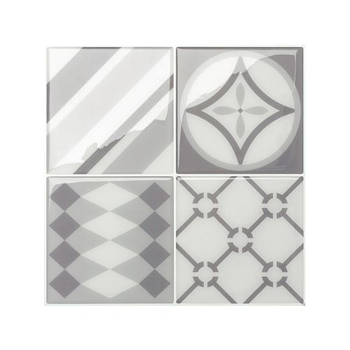 Vintage Gallo 9-inch x 9-inch Peel and Stick Decorative Wall Tile (4-Pack)