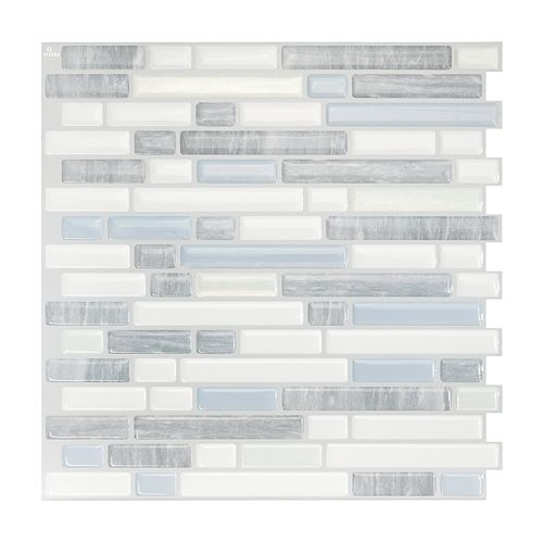 Bellagio Costa 10.06-inch W x 10-inch H Peel and Stick Decorative Wall Tile (4-Pack)