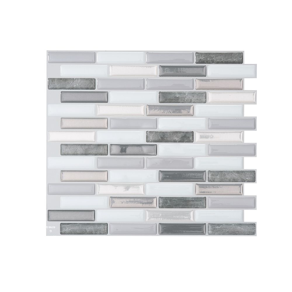 Smart Tiles Milenza Bigio 10 20 Inch W X 9 00 Inch H Peel And Stick Decorative Wall Tile The Home Depot Canada