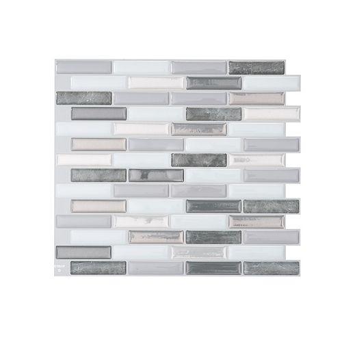 Milenza Bigio 10.20-inch W x 9.00-inch H Peel and Stick Decorative Wall Tile (4-Pack)