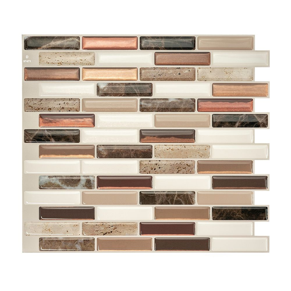 Smart Tiles Milenza Taddio 10 20 Inch W X 9 00 Inch H Peel And Stick Decorative Wall Tile The Home Depot Canada