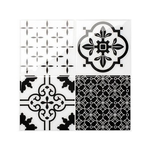 Vintage Evora 9-inch x 9-inch Peel and Stick Decorative Wall Tile (4-Pack)