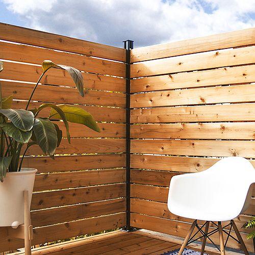 HOFT Solutions KIT B - 1 poteau de coin et pièces pour clôtures et écrans intimité