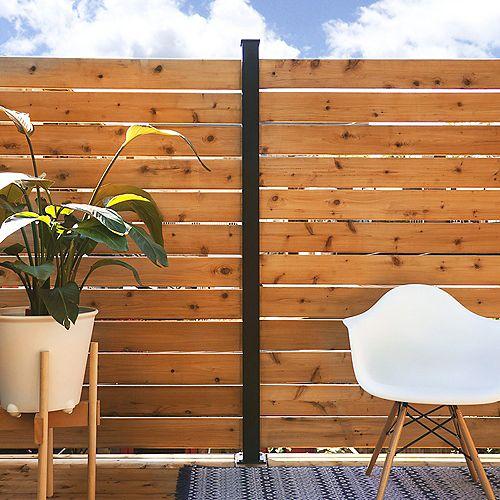 KIT C - 1 poteau de ligne et pièces pour clôtures et écrans intimité