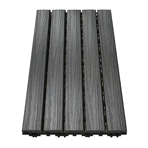 12 inch x 24 inch Deck and Balcony Tile - Driftwood - (10 sq. ft./case)