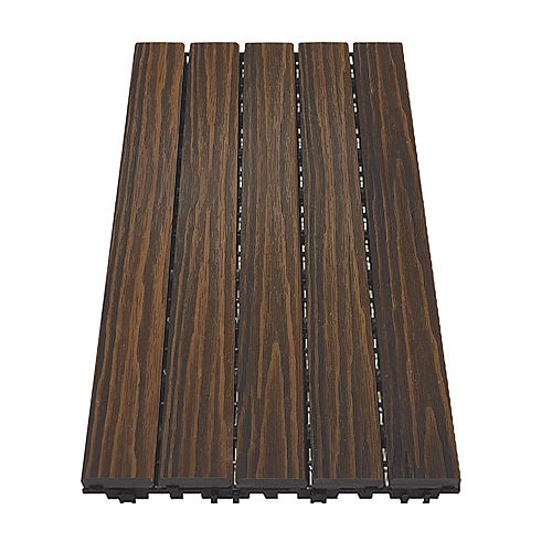 12 inch x 24 inch Deck and Balcony Tile - Walnut - (10 sq. ft./case)