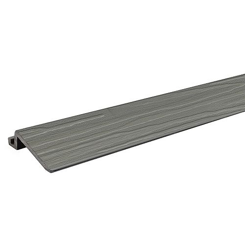 2 ft. - Transition Strip for Deck and Balcony Tile - Grey Oak - (4-Pack)