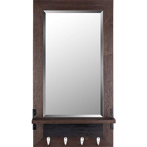 Art Maison Canada 20.75x37.75 miroir étagère biseau brun miroir de