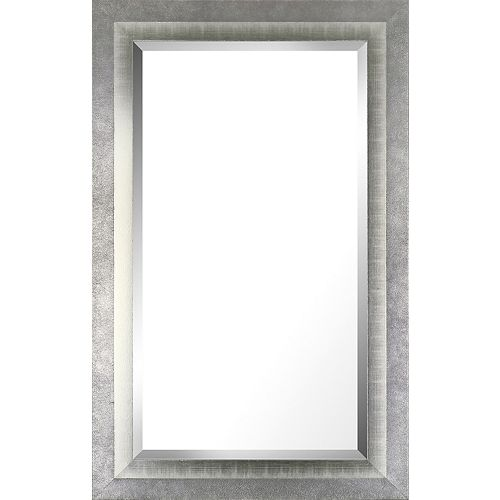 Art Maison Canada 26.5x42.5 Silver Liner Accent Real Wood Bevel Mirror