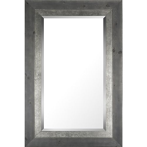 Art Maison Canada 29.25x45.25 Gray With Silver Liner Bevel Mirror