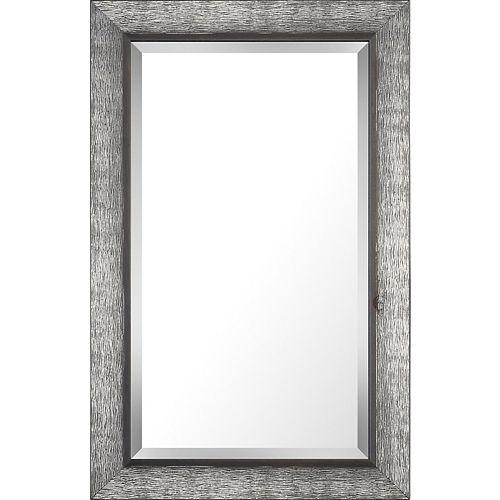 Art Maison Canada 20.5x32.5 argent et gris finition bois véritable biseau miroir