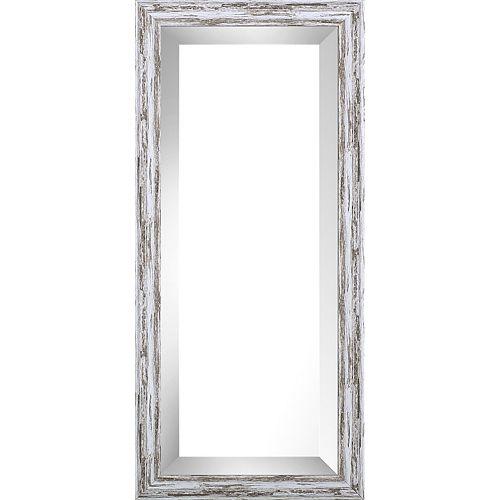9.75x21.75 Pastel Gray Wash Bevel Mirror