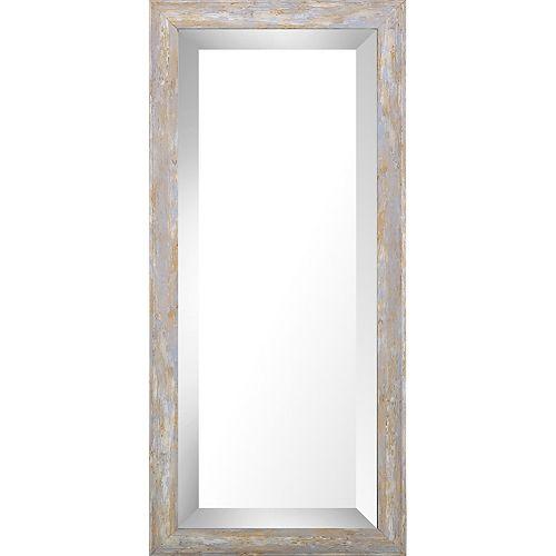 9.75x21.75 Pastel Wood Wash Bevel Mirror