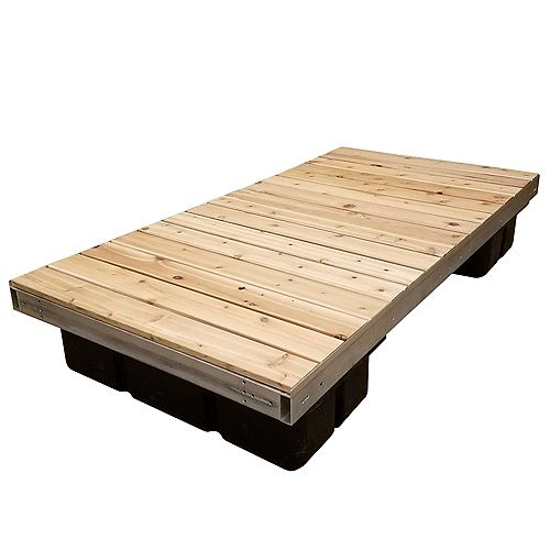 4 ft. x 8 ft. Low Profile Floating Platform Section with Cedar Decking