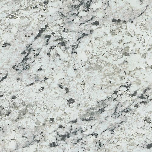 White Ice Granite 96-inch x 48-inch Laminate Sheet in Artisan Finish