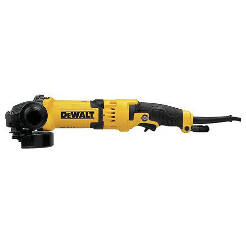 DEWALT 5-inch/6-inch Rat Tail No Lock-oN Trigger Grinder (13Amp, 9,000rpm, E-Clutch, Pipeline Gear Case Cover)