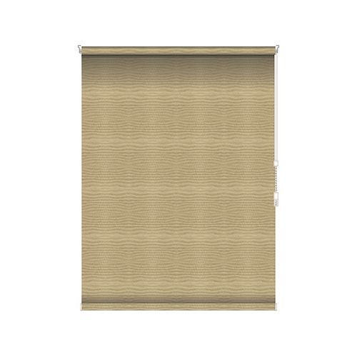 Blackout Roller Shade - Chain Operated Open Roll - 34-inch X 60-inch in Champagne